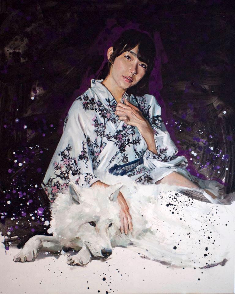 Okami white wolf dog